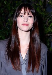 Chyler Leigh wore her long dark tresses straight with loads of shine at the American Film Market.