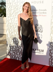 Cat Deeley looked seductive in a black slip dress at the American Friends of Covent Garden 50th anniversary celebration.