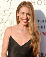 Cat Deeley sported her signature long waves at the American Friends of Covent Garden 50th anniversary celebration.