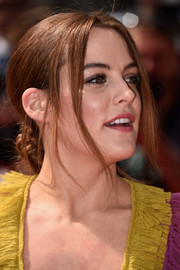 Riley Keough fixed her locks into a loose, twisted bun for the Cannes premiere of 'American Honey.'