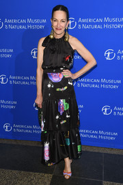 Cynthia Rowley made a lovely choice with this tiered floral halter dress for the American Museum of Natural History's 2017 Museum Gala.