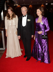 Princess Madeleine wore a hippie-inspired soft pink floor-length dress as she Centennial ball with her parents.