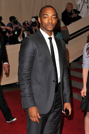 This seemingly simple suit had just enough sheen to make Anthony Mackie pop against the red carpet.