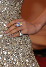 Jennifer Lopez showed off major bling while hitting the MET Gala. Her diamond cocktail ring looked stunning when paired with her sparkling gown.