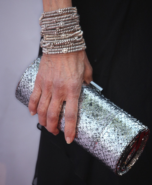 More Pics of Alana Stewart Metallic Clutch (1 of 5) - Alana Stewart Lookbook - StyleBistro