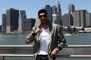 Amir Khan looks casually-cool in his patterned Gucci jacket on a publicty jaunt in Manhattan.