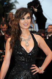 Berenice Marlohe paired her glimmering black gown with smoky gray nail lacquer for the 'Amour' premiere.
