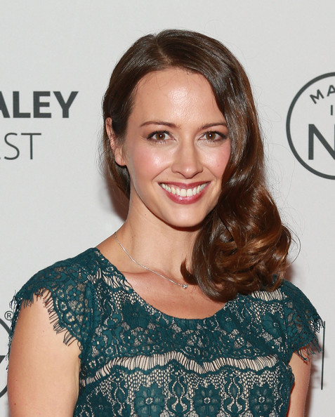 Amy Acker Medium Curls [person of interest,made in new york,hair,face,hairstyle,eyebrow,shoulder,beauty,lip,brown hair,skin,dress,amy acker,panel,new york city,the paley center for media,paleyfest]