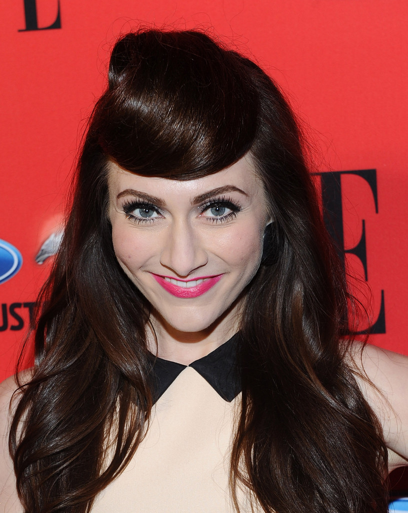 Amy Heidemann created retro-inspired faux bangs for the 3rd annual 'Elle' Women