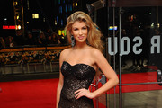 Amy Willerton Strapless Dress