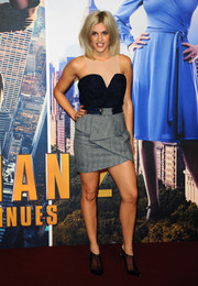 A pair of black mesh booties by Christian Louboutin finished off Ashley Roberts' ensemble in edgy-chic style.