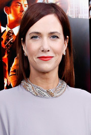 Kristen Wiig opted for a simple straight hairstyle when she attended the 'Anchorman 2' premiere in NYC.
