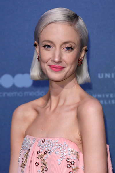 Andrea Riseborough Bob [hair,fashion model,eyebrow,beauty,hairstyle,human hair color,blond,chin,cheek,lip,red carpet arrivals,andrea riseborough,british independent film awards,london,england,old billingsgate]