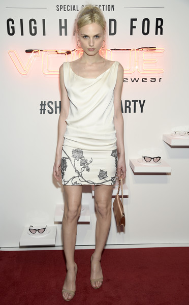 Andreja Pejic Embroidered Dress