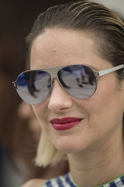 Marion Cotillard looked super cool wearing these silver aviators at the Cannes Film Festival photocall for 'Angel Face.'