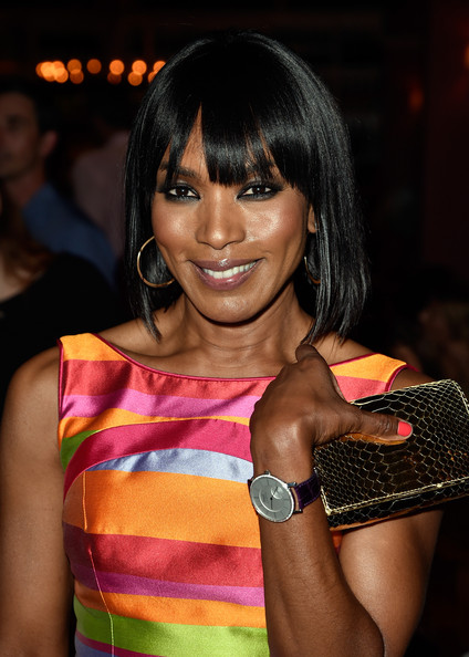 Angela Bassett Medium Straight Cut with Bangs