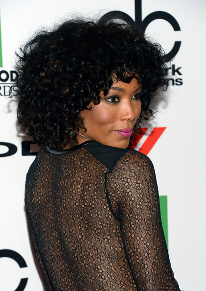 Angela Bassett Medium Curls with Bangs