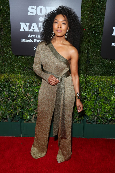 Angela Bassett Jumpsuit [red carpet,carpet,clothing,premiere,hairstyle,shoulder,flooring,dress,long hair,black hair,soul of a nation: art in the age of black power 1963-1983,broad hosts west coast,the broad hosts west coast,the broad,los angeles,california,angela bassett]
