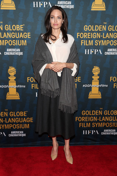 Angelina Jolie Full Skirt [premiere,carpet,flooring,magazine,publication,angelina jolie,american cinematheque present,symposium,the golden globe foreign-language nominees series 2018 symposium,egyptian theatre,california,hollywood,hfpa,the golden globe foreign-language nominees,series]