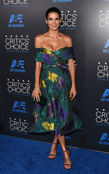 Angie Harmon Off-the-Shoulder Dress