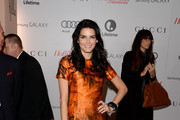 Angie Harmon Print Dress