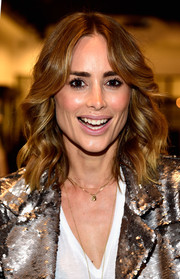 Anine Bing wore her locks down to her shoulders with beachy waves during her Los Angeles flagship opening.