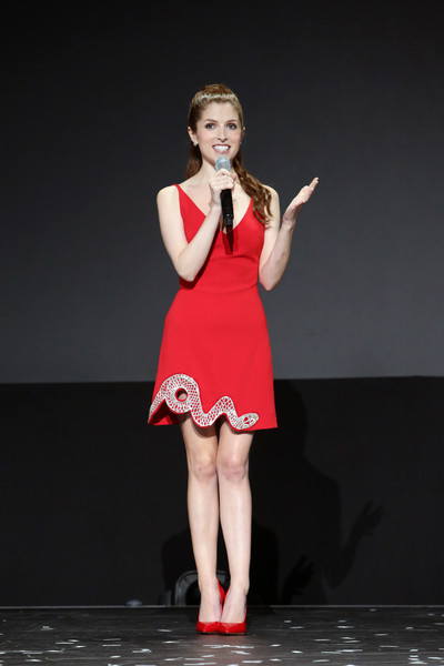 Anna Kendrick Embroidered Dress
