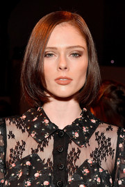 Coco Rocha wore her hair in a glossy bob at the Anna Sui fashion show.