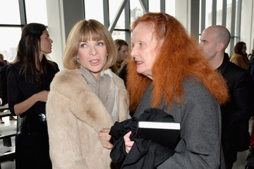 Anna Wintour Grace Coddington Front Row at the Calvin Klein Collection Show