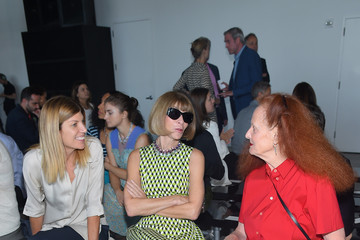 Anna Wintour Grace Coddington Calvin Klein Collection - Front Row - Spring 2016 New York Fashion Week: The Shows