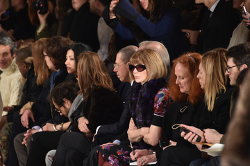 Anna Wintour Grace Coddington Front Row at Ralph Lauren