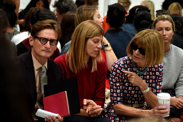 Anna Wintour Hamish Bowles Vera Wang Collection - Front Row - Mercedes-Benz Fashion Week Spring 2015