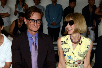 Anna Wintour Hamish Bowles Jason Wu - Front Row - Mercedes-Benz Fashion Week Spring 2015