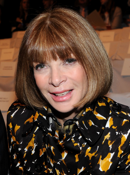 Anna Wintour Bob [hair,hairstyle,face,bangs,blond,layered hair,hair coloring,bob cut,brown hair,lip,michael kors,anna wintour,front row,american,lincoln center,new york city,the theatre,vogue,mercedes-benz fashion week,fashion show]
