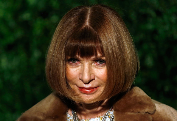 Anna Wintour Bob [hair,face,hairstyle,head,blond,human,chin,lip,bangs,close-up,red carpet arrivals,anna wintour,london palladium,england,london evening standard theatre awards]