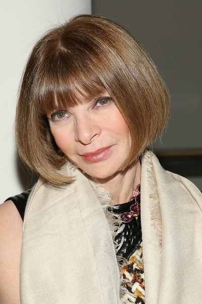 Anna Wintour Bob [hair,hairstyle,blond,face,bangs,bob cut,layered hair,hair coloring,chin,beauty,wes gordon,anna wintour,front row,new york city,milk studios,made fashion week,runway show]