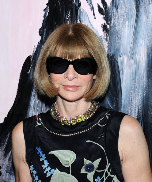 Anna Wintour Bob [eyewear,hair,hairstyle,cool,sunglasses,glasses,bangs,blond,black hair,vision care,anna wintour,the jimmy,new york city,james hotel,asp,the world surf league,cocktail party,the world surf league cocktail party]
