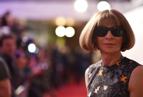 Anna Wintour Bob [eyewear,hair,sunglasses,glasses,hairstyle,fashion,street fashion,beauty,blond,vision care,editor-in-chief,anna wintour,bmcc john zuccotti theater,new york city,american vogue,tribeca film festival opening night,world premiere,world premiere]