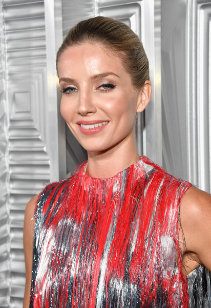 Annabelle Wallis Classic Bun [hair,hairstyle,lip,red,eyebrow,beauty,fashion,shoulder,blond,chin,24th annual women in hollywood celebration,calvin klein,arrivals,annabelle wallis,real is rare,los angeles,four seasons hotel,elle,loreal paris,real is a diamond]