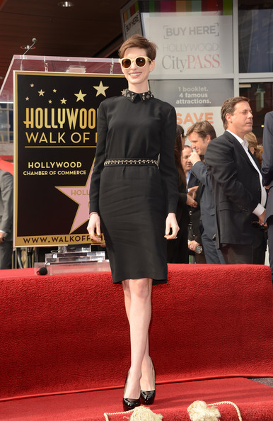Anne Hathaway Little Black Dress