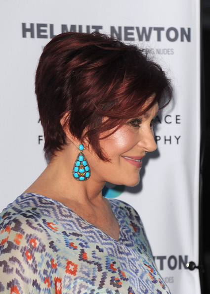 More Pics Of Sharon Osbourne Short Straight Cut 1 6 Hairstyles Lookbook Stylebistro