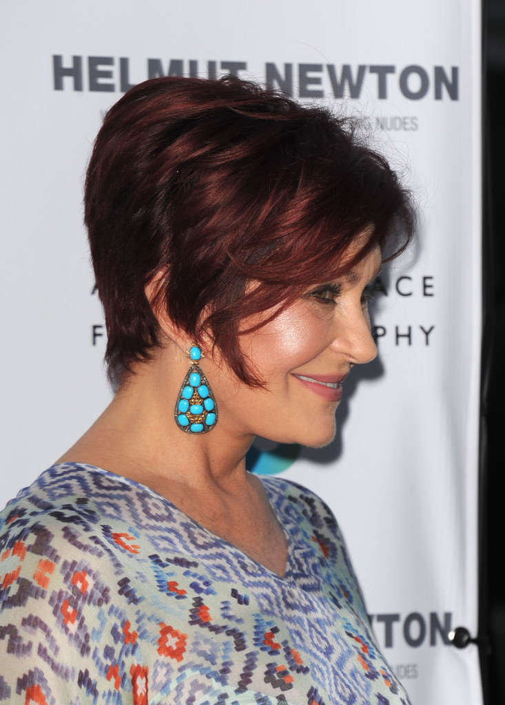 More Pics Of Sharon Osbourne Short Straight Cut 1 Of 6