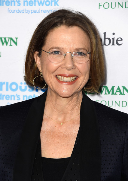 Annette Bening Bob [hair,chin,eyewear,glasses,smile,white-collar worker,premiere,official,vision care,arrivals,evening of seriousfun celebrating the legacy of paul newman,celebrities,california,hollywood,dolby theatre,an evening of seriousfun celebrating the legacy of paul newman]