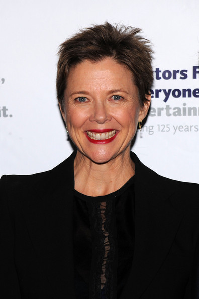 Annette Bening Boy Cut [chance and chemistry: a centennial celebration of frank loesser,hair,face,hairstyle,eyebrow,chin,lip,forehead,smile,cheek,premiere,annette bening,frank loesser actors fund,benefit concert,new york city,minskoff theatre,chance and chemistry: a centennial celebration]