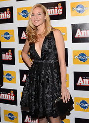 A belly-grazing neckline added a dose of sexiness to Jennifer Westfeldt's sweet LBD at the Broadway opening of 'Annie.'