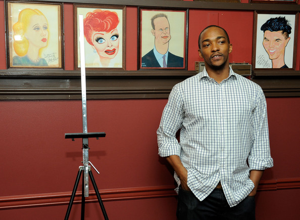 Anthony Mackie Button Down Shirt [red,visual arts,art,glasses,media,painting,modern art,illustration,artist,art exhibition,sardis celebrates the unveiling of christopher walken,anthony mackie,caricature,remarks,caricature,new york city,sardi,unveiling ceremony]