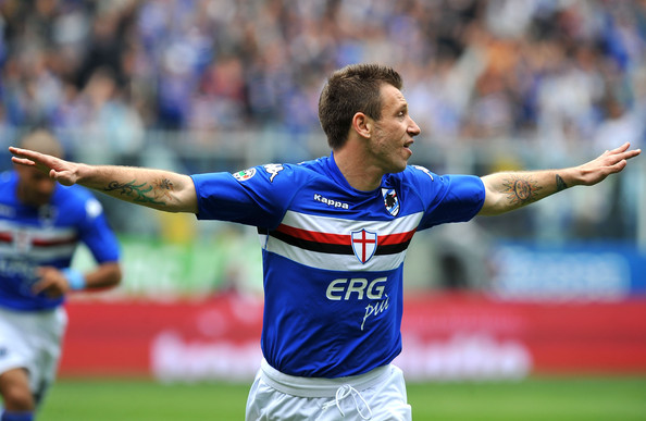 Antonio Cassano Flower Tattoo [sports,team sport,ball game,football player,player,sports equipment,soccer,international rules football,sport venue,tournament,uc sampdoria,as livorno calcio,serie a,genoa,serie a match between uc sampdoria and as livorno calcio at stadio luigi ferraris,italy,antonio cassano of uc sampdoria,may 2]