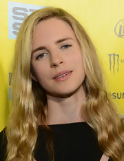 Britt Marling's long blonde locks looked beachy and carefree at the 2013 SXSW 'At Any Price' red carpet.