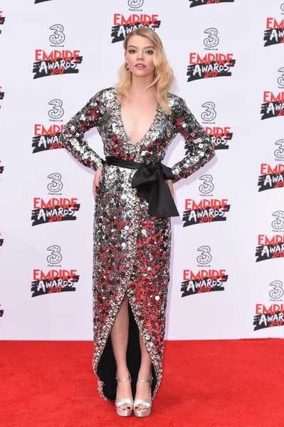 Anya Taylor-Joy Platform Sandals [clothing,red carpet,carpet,premiere,dress,flooring,footwear,event,costume,fashion model,red carpet arrivals,anya taylor-joy,empire awards,awards,london,england,the roundhouse,three empire]