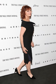 Susan Sarandon opted for an asymmetrical LBD for her red carpet look at 'Arbitrage.'